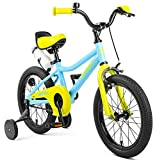 Retrospec Koda Kids Bike with Training Wheels, 16' 3-7yrs, Blue & Lime