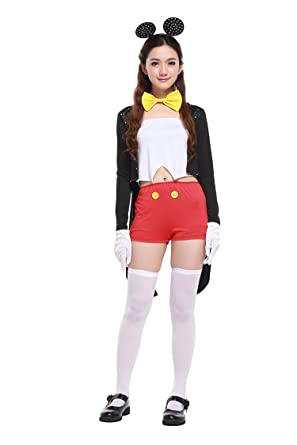 Honeystore Womenu0027s Minnie Mouse Deluxe Adult Halloween Costume  sc 1 st  Amazon.com & Amazon.com: Honeystore Womenu0027s Minnie Mouse Deluxe Adult Halloween ...