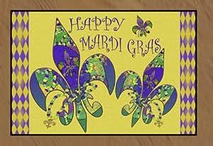 Happy Mardi Gras Floor Mat