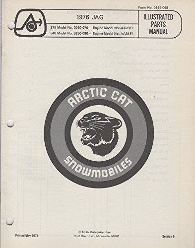 - 1976 ARCTIC CAT SNOWMOBILE JAG 275, 340 P/N 0185-068 PARTS MANUAL (059)