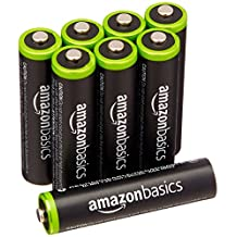 AmazonBasics AAA Ni-MH Pre-Charged Rechargeable Batteries (8-Pack) - 1000 Cycle (Typical 800mAh, Minimum 750mAh)