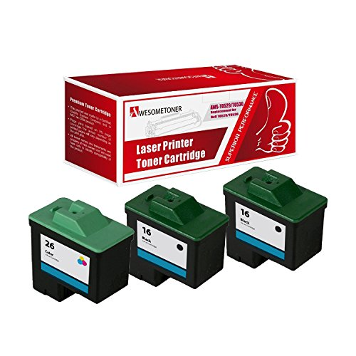 (AwesomeToner 3 PK T0529 Black x2 T0530 Color Compatible ink cartridge for Dell Photo 720, A920 High Yield 400 Black 275 Color Pages)