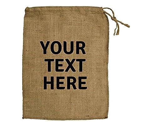 Amazon.com: Bolsas de yute tela personalizado regalos ...