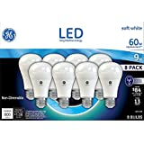 lumen led color smart bulb - GE Lighting LED A19 Light Bulb with Medium Base, 9-Watt, Soft White, 8-Pack, Non-dimmable