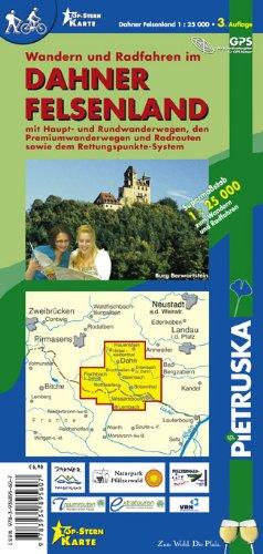 Dahner Felsenland: Wandern und Radwandern im Dahner Felsenland, Maßstab 1 : 25.000