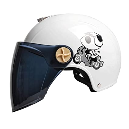 LI HAO SHOP Casco de Coche eléctrico, Casco de Moto, Casco Adulto, Casco