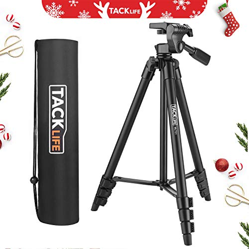 "Tripod, 55-Inch Camera Tripod, Lightweight Aluminum Travel Tripod with Carry Bag, Maximum Load Capacity 6.6 LB, 1/4"" Mounting Screw for Rangefinder, Digital Camera, iPhone - MLT01"