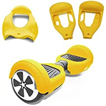 """Silicone Case Cover for 6.5"""" Smart Self Balancing Scooter (Yellow)"""