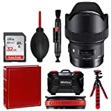 Sigma 14mm f/1.8 DG HSM Art Lens for Canon EF + 32GB Memory Card + Photo Album + Tripod + Memory Card Case + Top Value Accessory Bundle!