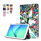 Tablet Samsung Galaxy Tab E 8.0 Skins,Samsung T377V Cover,Painted Covers with Flip Cover & Stand for Samsung TAB E 8.0 inch T377P/R/A/T/V Verizon/Sprint/US Cellular/AT&T/T-Mobile case-Love tree