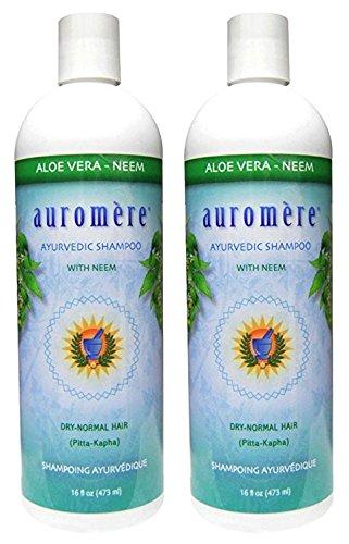 Auromere Ayurvedic Shampoo Aloe Vera Neem (Pack of 2) With Neem, Aloe Vera, Hibiscus Flowers, Coconut Oil and Lavender Oil, 16 fl. oz. each. - Auromere Shampoo Aloe
