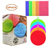 Silicone Dish Sponge,Antibacterial Kitchen Scrubber Brush for Dish Pot and Veggies Fruit Non-stick Pans Sink Aquarium Car,Scouring pads (Pack of 10)