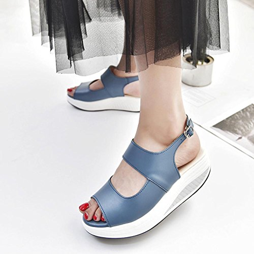 Bleu pour MML Femme 18516 MML Sandales wqFFx4XY