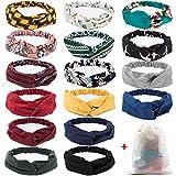 16 Pcs Boho Headbands for Women, EAONE Floral