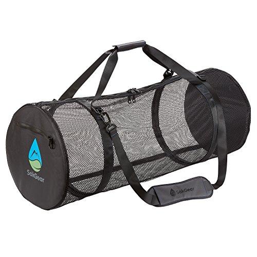 - Såk Gear SCUBASåk | Premium Collapsible Mesh Duffle Bag for SCUBA and Dive Equipment | Features Exterior Waterproof Pocket & Adjustable Shoulder Strap | by
