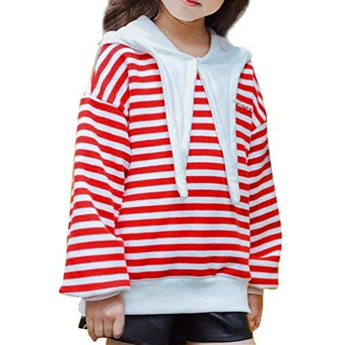 SUNTEAMO Toddler Kids Baby Girls Long Sleeve Striped
