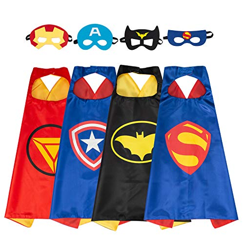 MIJOYEE Superheros Capes and Mask Costumes for Kids