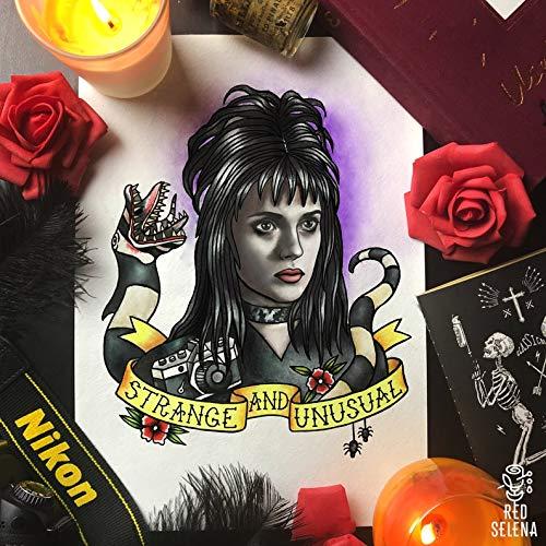 Tim Burton Halloween Ideas (Rainbow Store Poster Print Lydia Deetz Beetlejuice Tim Burton Halloween Poster Tattoo)