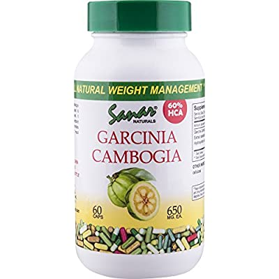 Garcinia Cambogia Extract 60% HCA 60 Caps 650mg Each - Fast Acting Appetite Suppressant