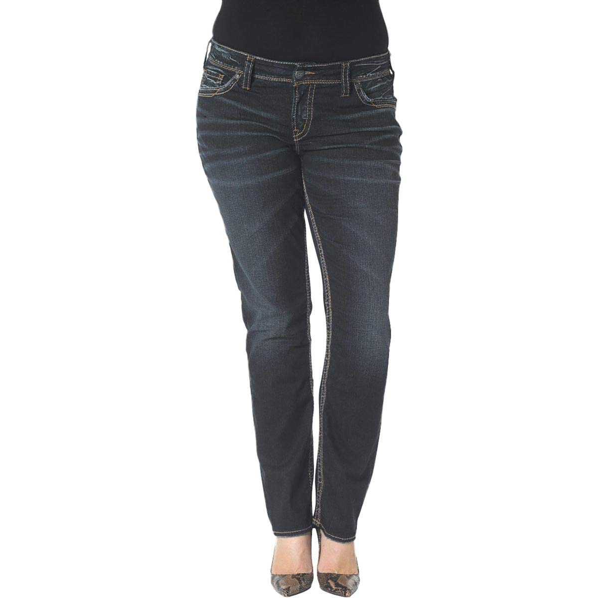 Silver Jeans Co. Plus Size Suki Straight Jeans 16 W