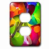 3dRose Danita Delimont - Abstracts - Thailand, Chiang Mai, Thai Market Place - Light Switch Covers - 2 plug outlet cover (lsp_276975_6)