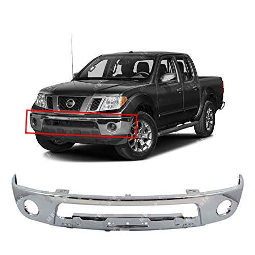 - MBI AUTO - Chrome, Steel Front Bumper Face Bar Shell for 2005-2017 Nissan Frontier Pickup W/Fog 05-17, NI1002143