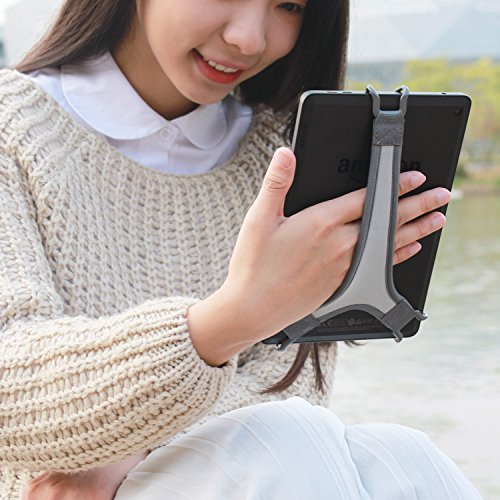 TFY Security Hand Strap Holder Finger Grip for Tablet - Fire 7 / Fire HD 8 / iPad Mini/Galaxy Tab S 8.4 / Galaxy Tab 2/3 / 4 / Galaxy Tab 7.7 (Grey)