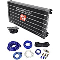 Power Acoustik CB1-8000D 4000 Watt RMS Mono Amplifier Car Audio Class D+Amp Kit