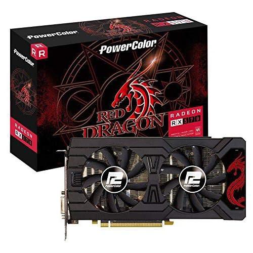 chollos oferta descuentos barato PowerColor AMD Radeon RX 570 Red Dragon 8 GB GDDR5 DVI HDMI 3 x DP Tarjeta gráfica