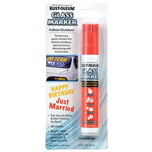 Rust Oleum 267964 Glass Marker Red