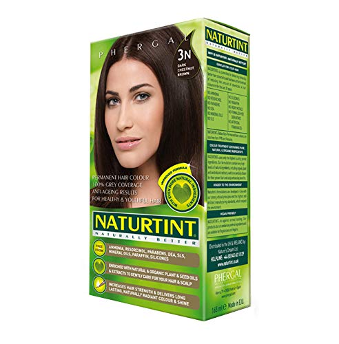 (2 Pack) - Naturtint - Hair Dye - 3N Dark Chestnut Brown | 135ml | 2 PACK BUNDLE