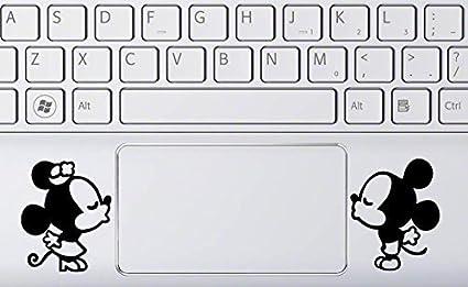 Generic Mickey besándose de símbolo de lesbianismo iphone ipad Macbook Teclado Skin adhesivo para portátiles de