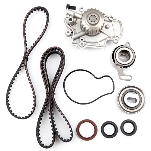 OCPTY Timing Belt Kit Including Timing Belt Water Pump with Gasket tensioner Bearing etc, Compatible for 1997 1998 1999 Acura CL/1994 1995 1996 1997 1998 1999 2000 2001 2002 Honda ()