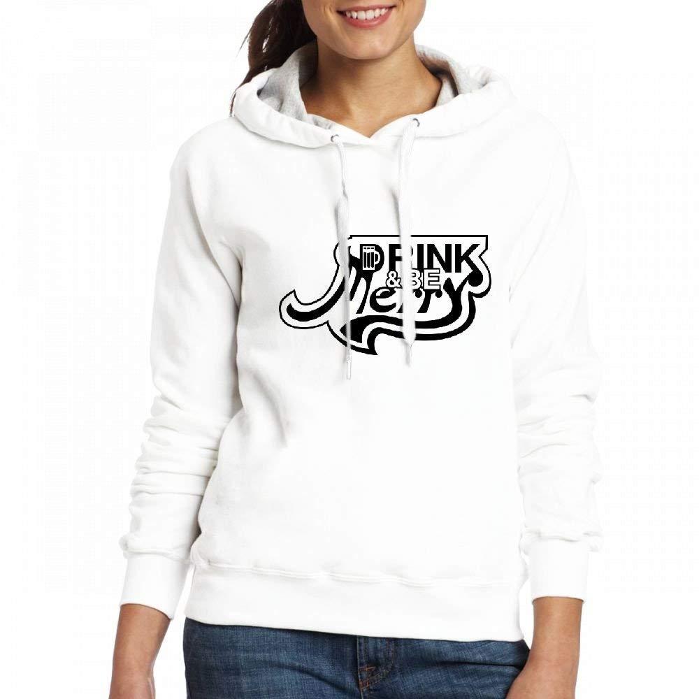 Sweatshirts Drink and Be Merry Custom Pullover Hoodie