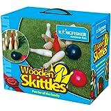 King Fisher GA016 Wooden Skittles Garden Game Set