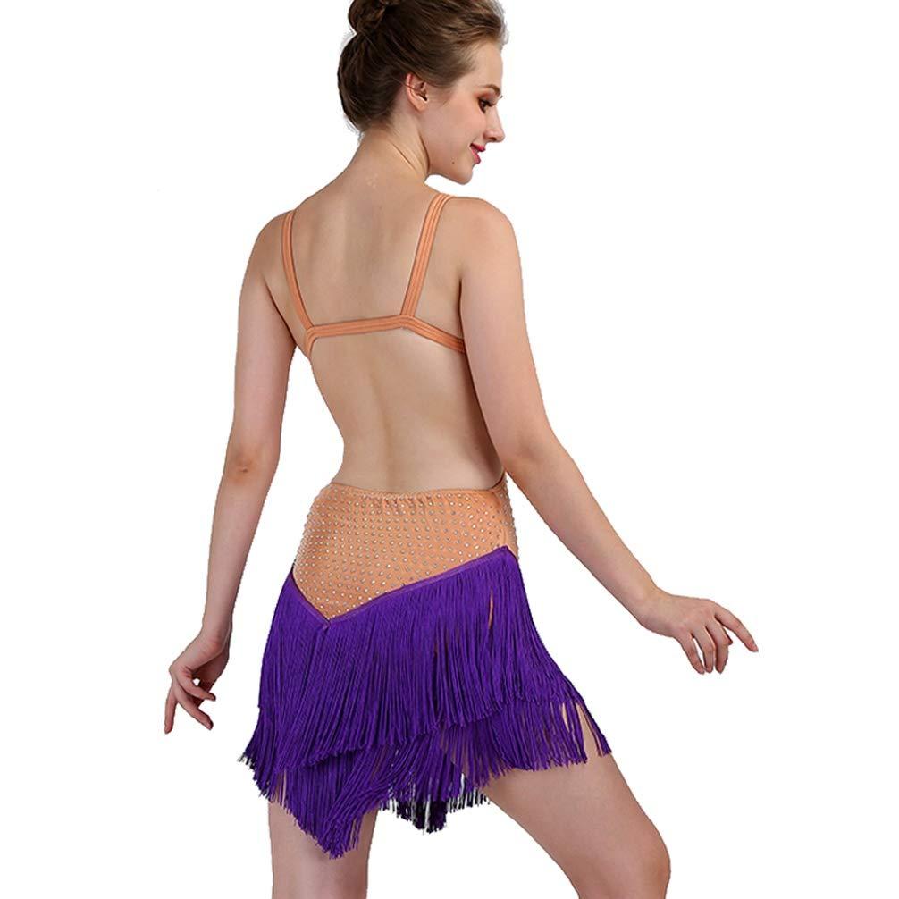 MoLiYanZi Ärmellos Latin Dance Kleider für Frauen Frauen Frauen Aufführung Latin Wettbewerb Kostüm Rückenfrei Quaste Rock mit Perle Strass, XXL B07KS8S1V4 Bekleidung Neuer Stil 46d04e