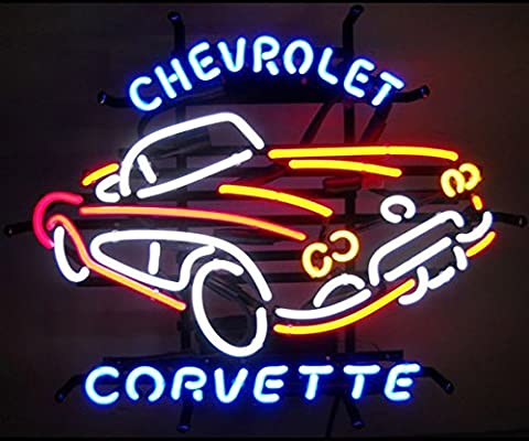 Neonetics 5CORVX Cars and Motorcycles GM Corvette Car C1 1950s Neon Sign - Motorcycles Neon Clock