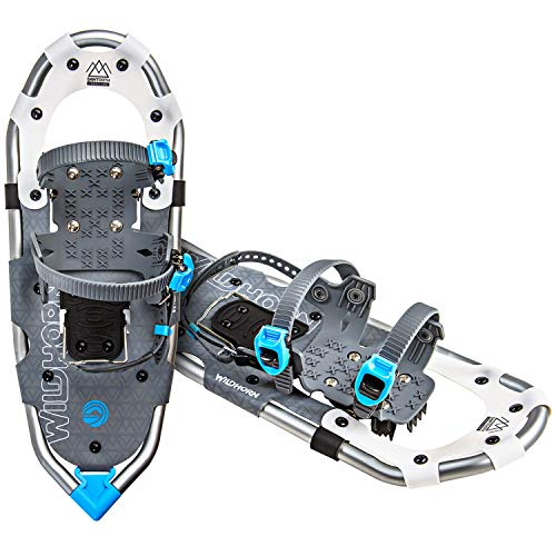 - WildHorn Outfitters Sawtooth Snowshoes for Men and Women. Fully Adjustable Bindings, Lightweight Material, Hard Pack Grip Teeth. New for 2019!