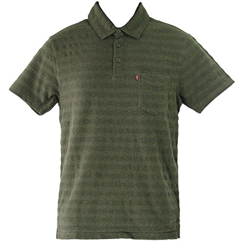 Levi's® Sunset Polo Shirt - Standard Fit - Stripe Olive Night