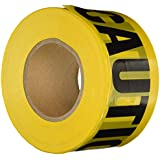 Comfitwear PT-100 Caution Barricade Tape, Yellow