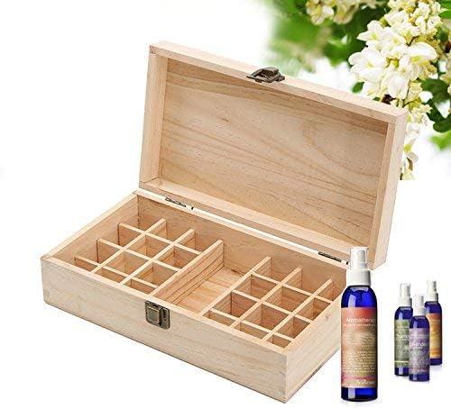 25 compartimiento de aceite esencial de madera caja de almacenamiento maquillaje estuche de transporte botellas de rodillos aceite titular exhibidor organizador aceites contenedores de almacenamiento: Amazon.es: Hogar