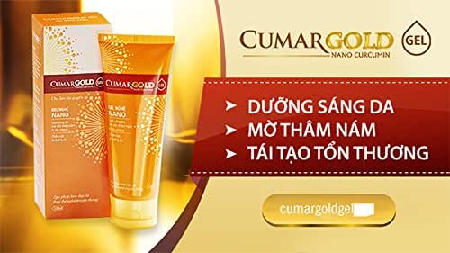 01 Box100ml - CumarGOLD NANO CURCUMIN Gel - skin brightening blurring the bruise melasma