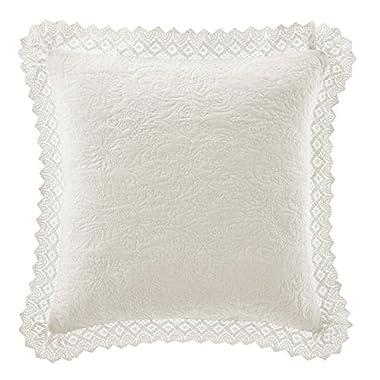 Laura Ashley Crochet Ivory Decorative Pillow