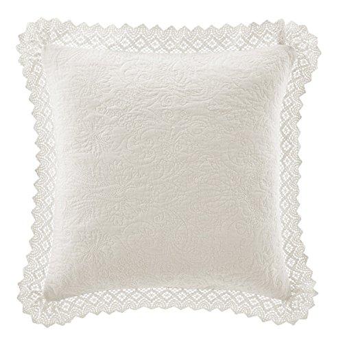 Laura Ashley Crochet Marfil Decorativo Almohada: Amazon.es ...