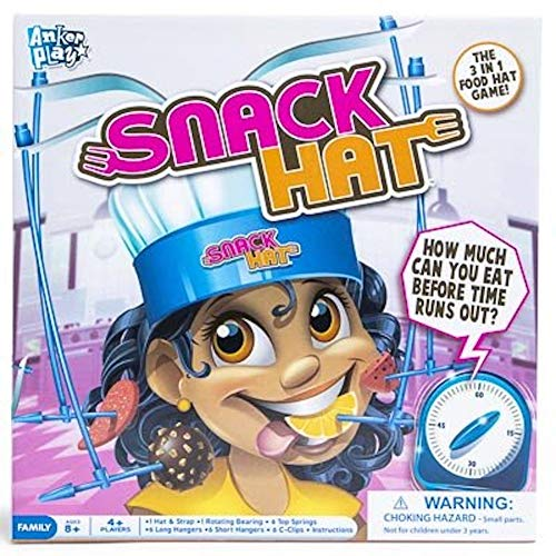 The 3 in 1 Snack Hat Food Game~How Much Can You Eat Before Time Runs Out?
