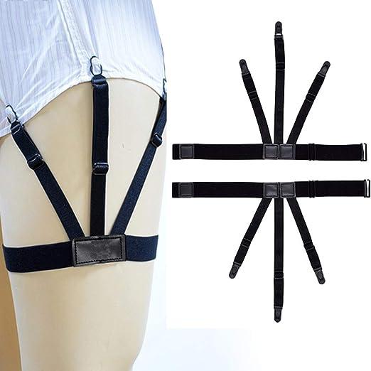 ZPADCYDD Camisa para Hombre Stay Suspenders Garter Mujeres Hombres Pierna Arnés elástico Tirantes para Camisas de Negocios Calcetines Ajustables Garter Holder Belt: Amazon.es: Hogar