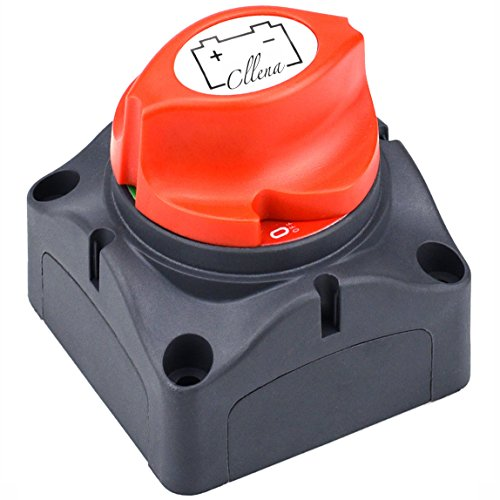 Cllena Battery Disconnect Switch Waterproof Master Isolator Cut Off Kill Switch for RV Battery Marine Boat Car Vehicles 275/1250 Amps