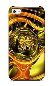 New 3d Glass Tpu Case Cover, Anti-scratch Scotlard Phone Case For Iphone 5c