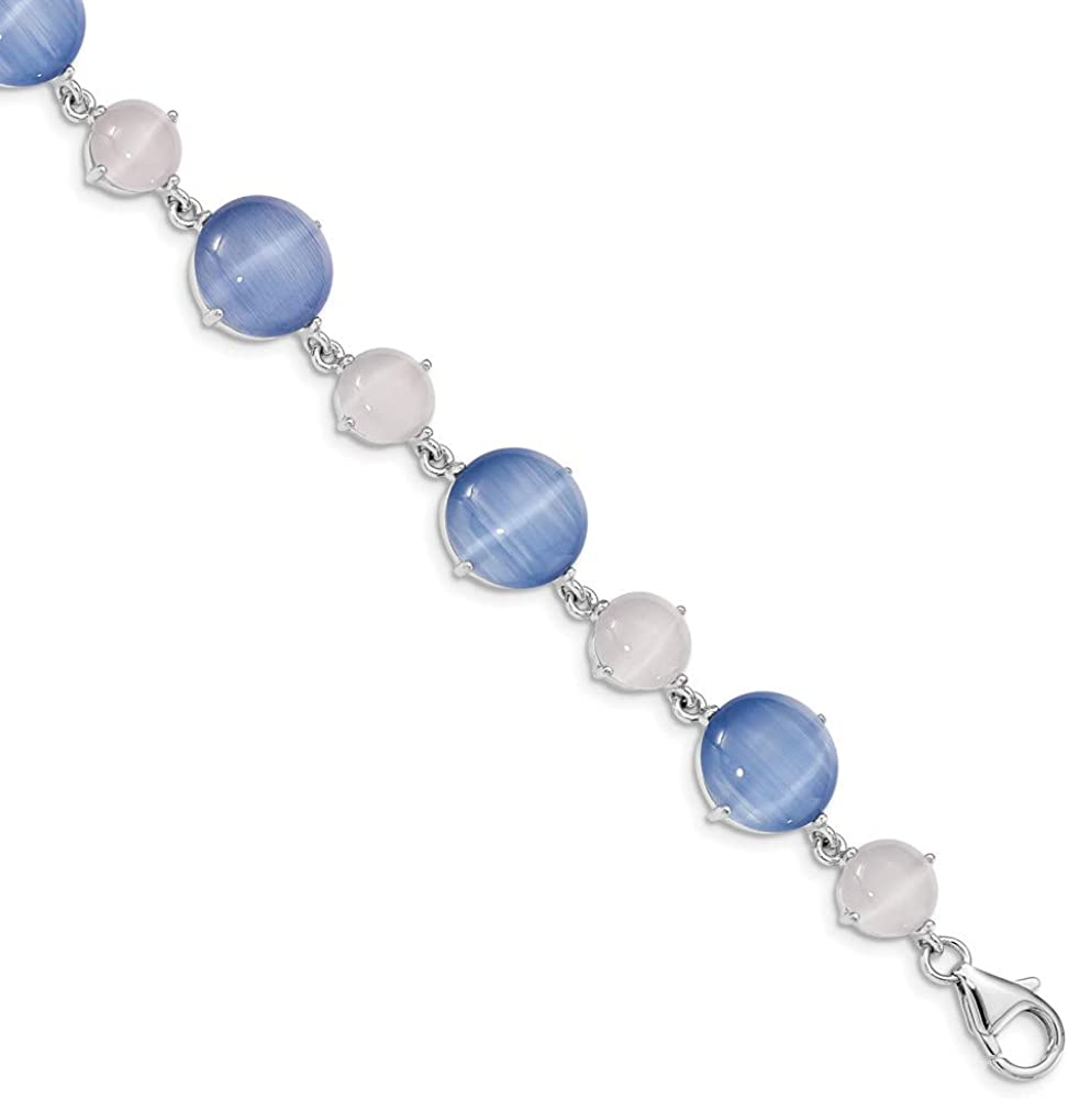 Blue Jade 12mm Beaded Necklace Adjustable Sterling Silver Lobster Claw and Chain
