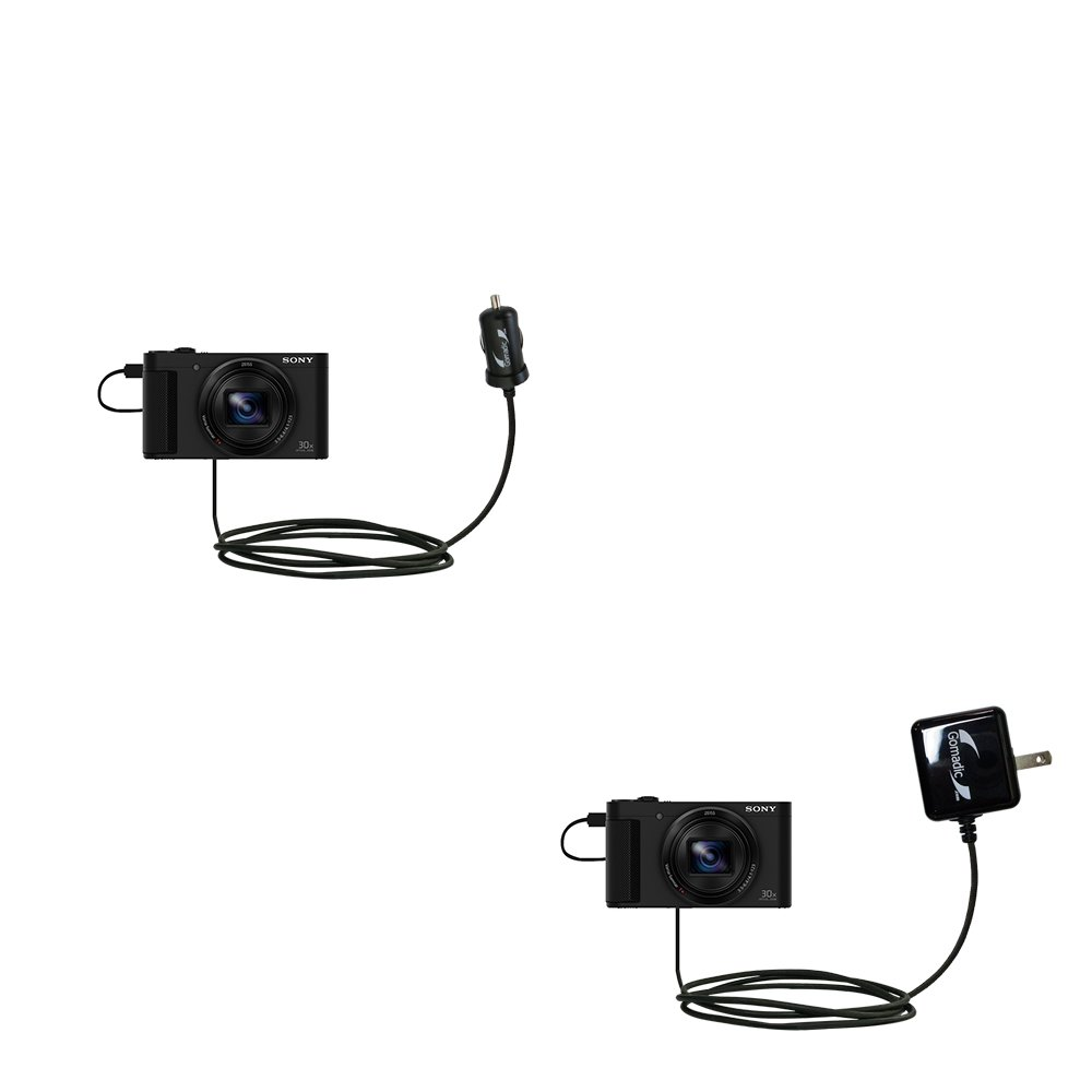 Gomadic車と壁充電器EssentialキットSuitable for the Sony hx90 V / DSC - hx90 V – Includes両方AC壁とDC車充電オプションwith TipExchange B076KP19LX